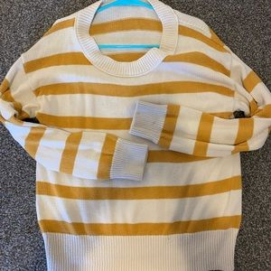 J.crew swoop neck stripe pullover knitted